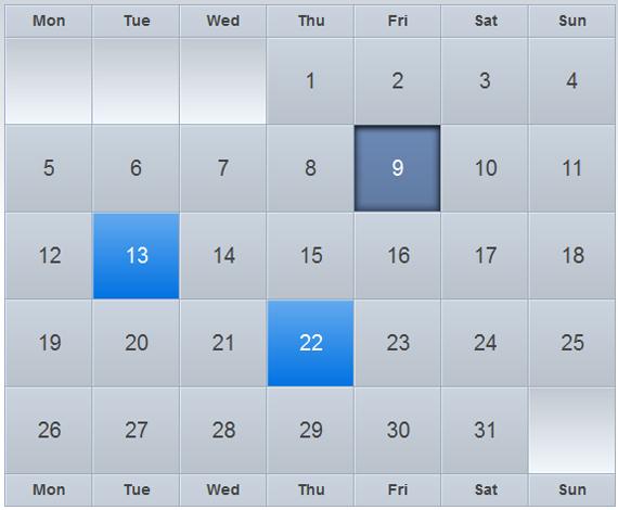 Create astonishing iCal-like calendars with jQuery