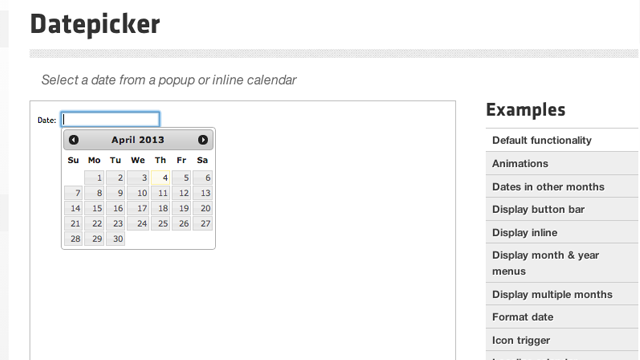 jQuery UI Date Picker