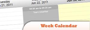 jQuery Week Calendar Plugin