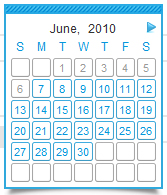 Calendar – A Javascript class for Mootools