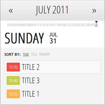Simple Events Calendar JS