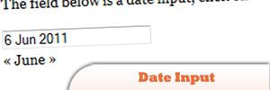 jQuery Date Input Plugin