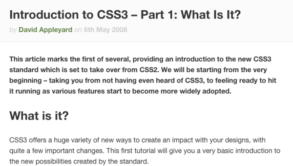 best way to learn CSS3 online css3