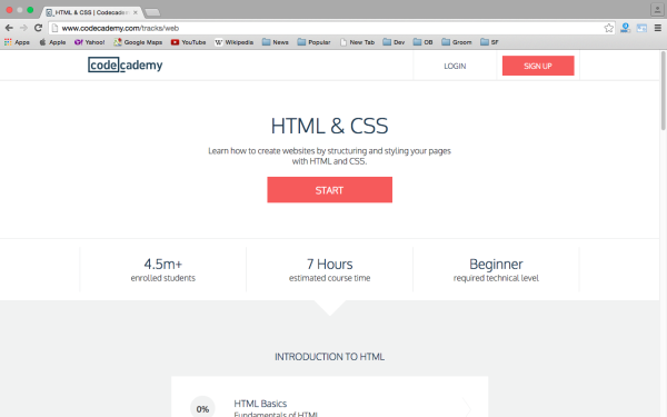 best way to learn CSS3 online codecademy