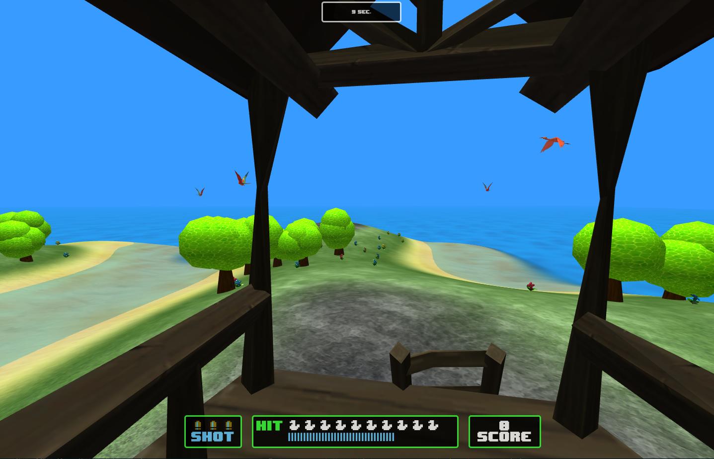 WebGL 游戏 ParrotHunt