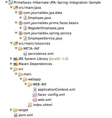 Primefaces-Spring-JPA-Hibernate-EclipseLink-Project