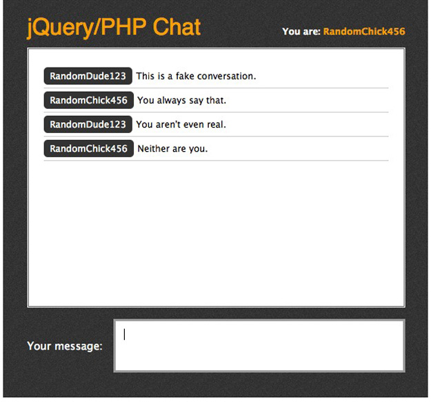 jquery php chat