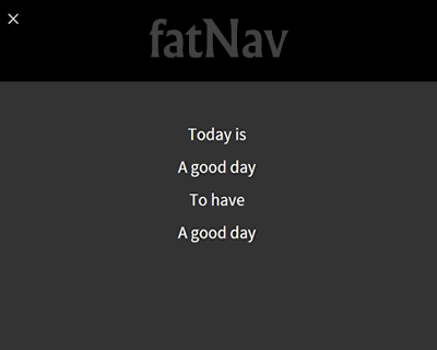 fatNav – Fullscreen Menu with Hamburger Toggle