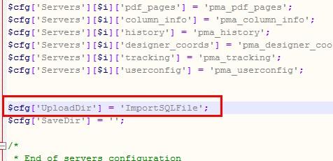怎样使用phpmyadmin导入大数据的方法