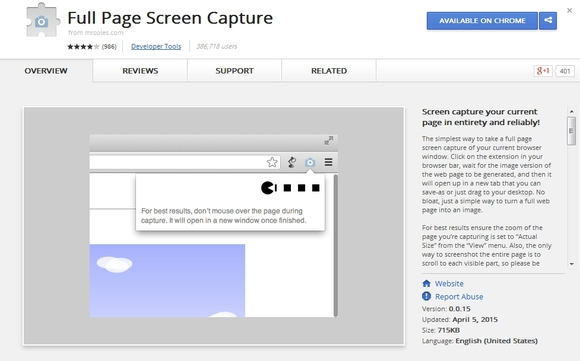 Full Page Screen Capture - chrome plugins