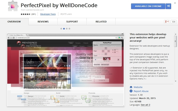 PerfectPixel - chrome extensions