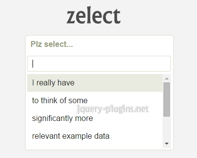 Zelect – jQuery Plugin for Custom Select Elements
