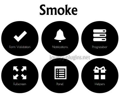 Smoke – jQuery Plugin for Bootstrap Including Helpful Features