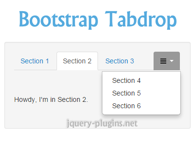 Tab Drop for Bootstrap