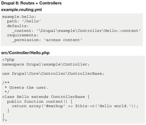Drupal 8: Routes + Controllers