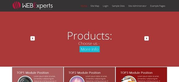 Webexperts - joomla free templates