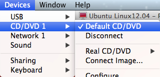 虚拟机CD/DVD驱动指向默认的空驱动