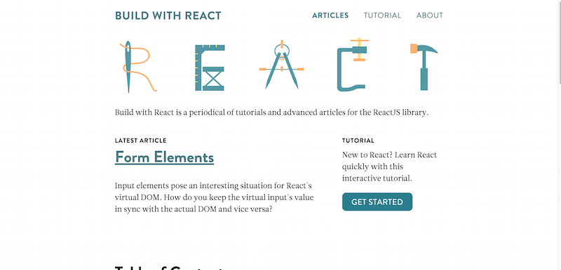 Build with React JS