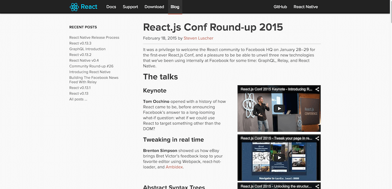 React.js Conf Round up 2015   React