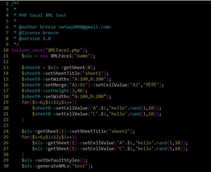 【原创】PHP导出Excel通过XML&nbsp;<wbr>PHPExcelXML