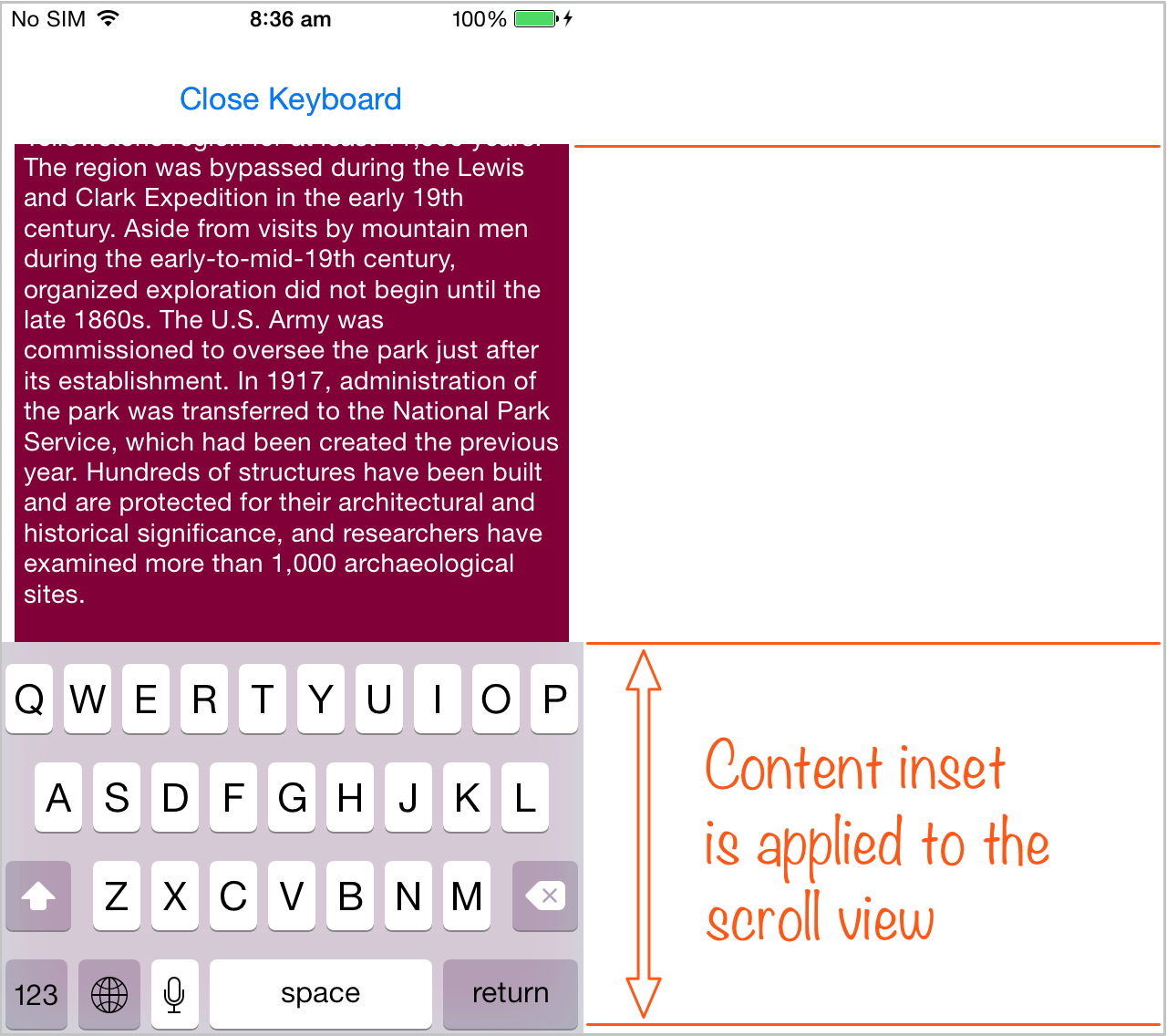 Move scroll view content from under the keyboard in iOS/Swift