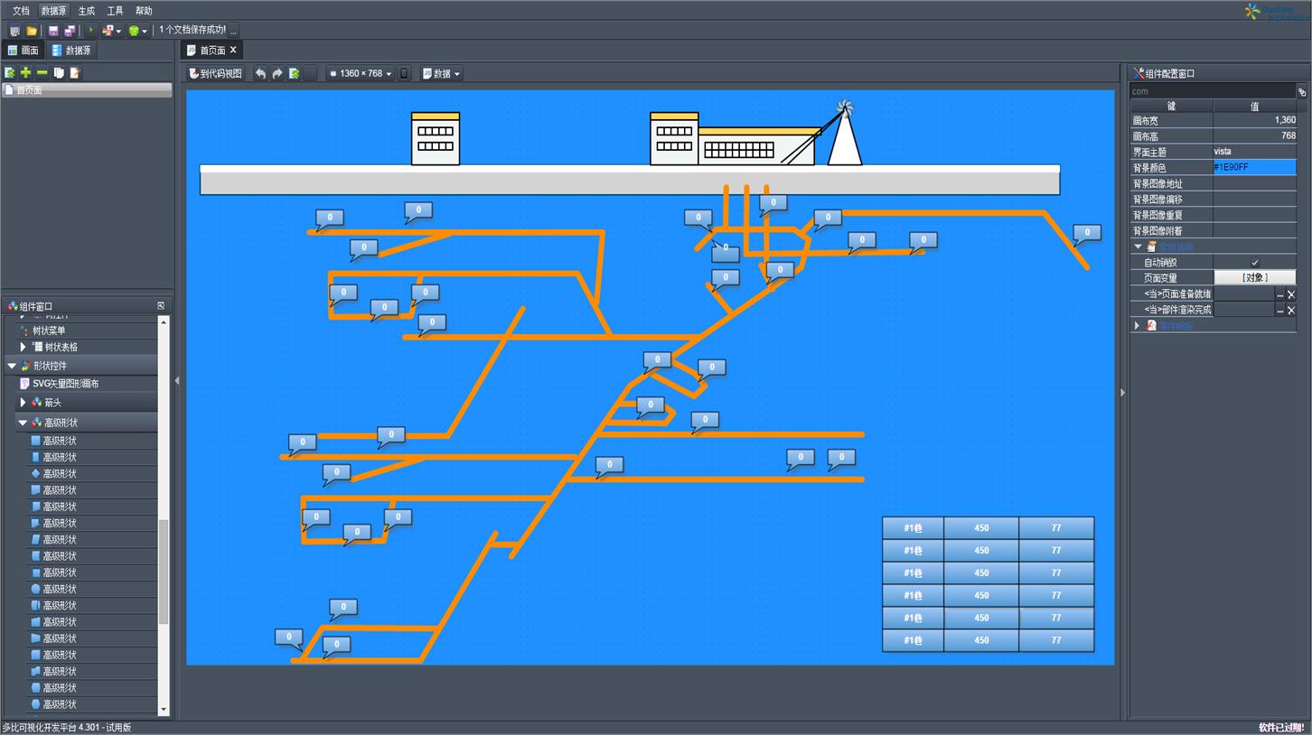 移动设备组态scada苹果/安卓井下监控系统