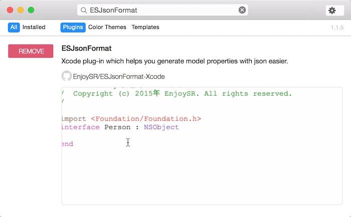 ESJsonFormat-Xcode