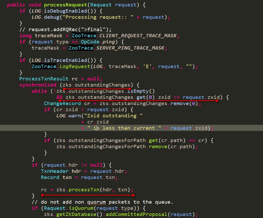 FinalRequestProcessor的处理内容