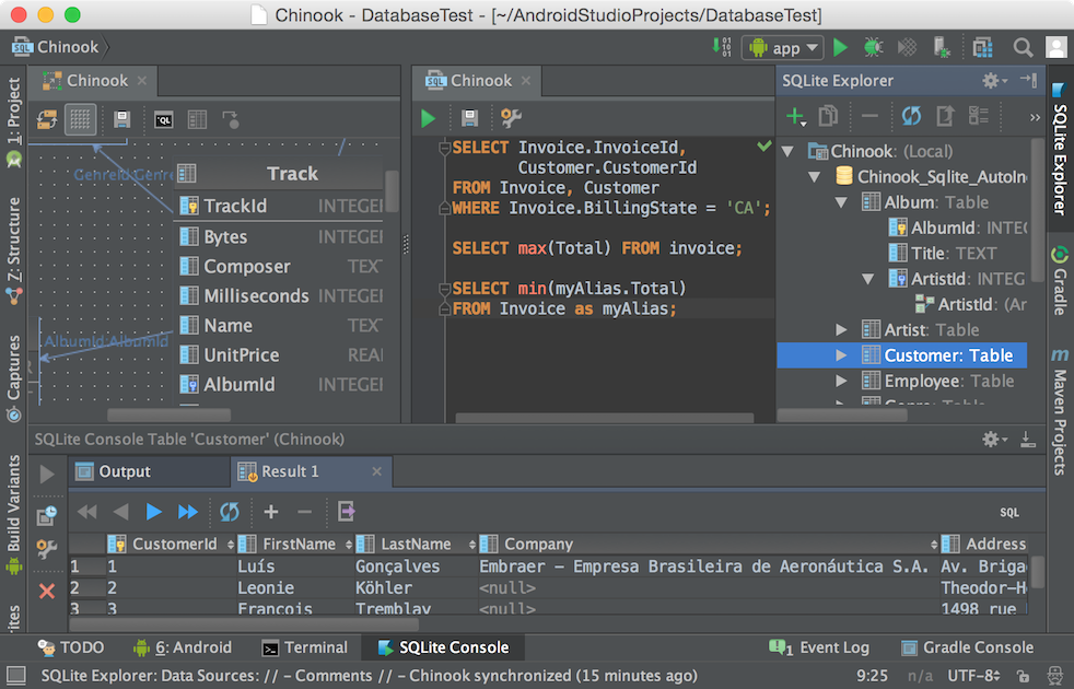 SQLScout in Android Studio