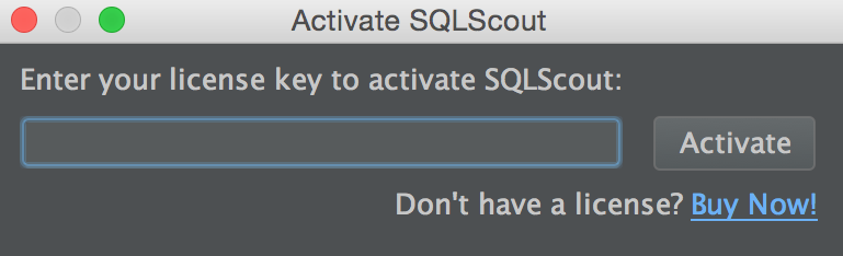 Activating SQLScout