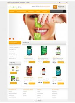 Healthy life OpenCart 自适应主题模板 ABC-0053
