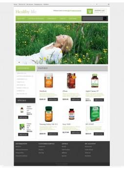 Healthy life  OpenCart 自适应主题模板 ABC-0052