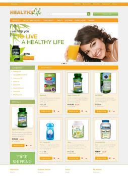 Healthy life store OpenCart 2.X 自适应主题模板 ABC-0530
