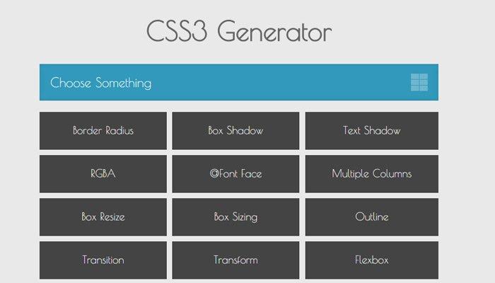 css3 generator free webapp