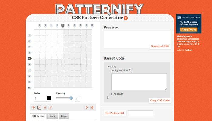patternify pattern webapp generator