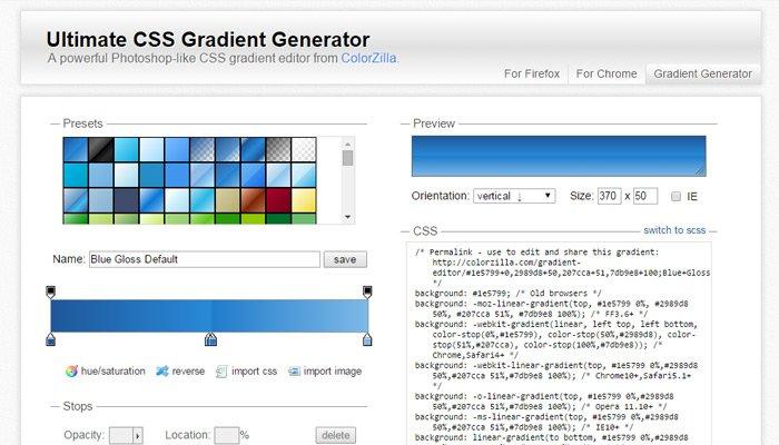 colorzilla gradient generator css