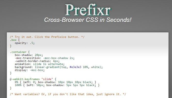 css3 prefix generator
