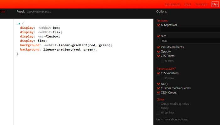 css3 automated generator prefixes