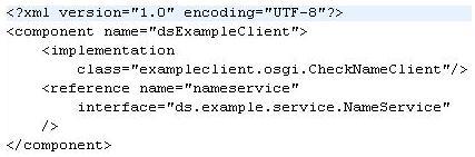 图示7:采用 Lookup 策略的组件配置文件