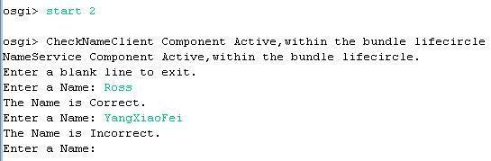 图示11:启动dsExampleClient Bundle