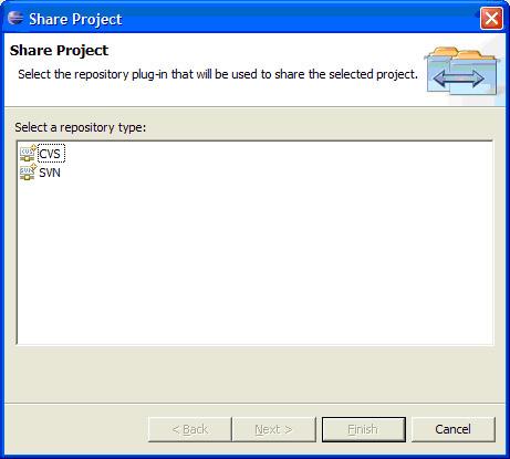 Share Project 对话框