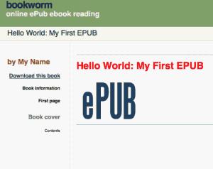 在 Bookworm 中显示 EPUB