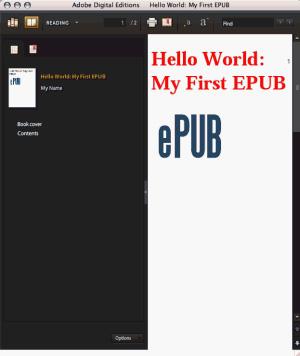 ADE 中显示的 EPUB