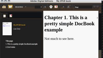 ADE 显示了从 DocBook 转化得到的 EPUB