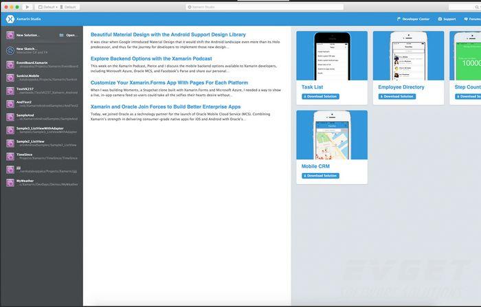 Xamarin为Mono for Android提供了一个可视化设计器 1