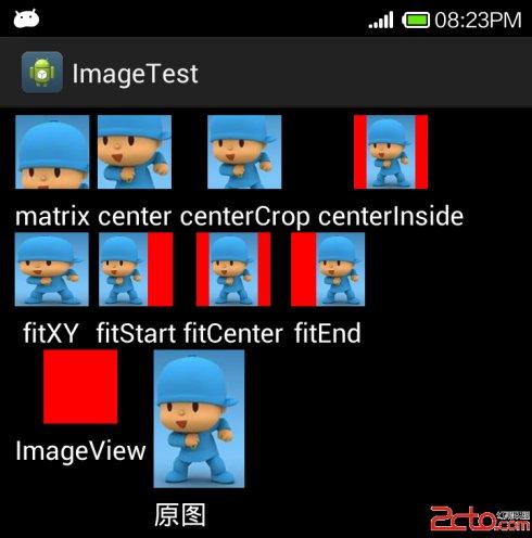 Android<wbr>ImageView的scaleType属性与adjustViewBounds属性[转]