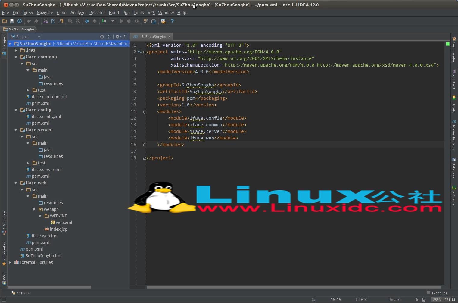 使用IntelliJ IDEA12创建Maven多模块项目