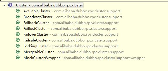 Cluster接口实现情况