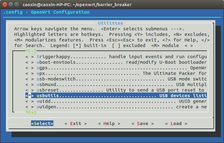 《OpenWrt-BarrierBreaker版本编译》