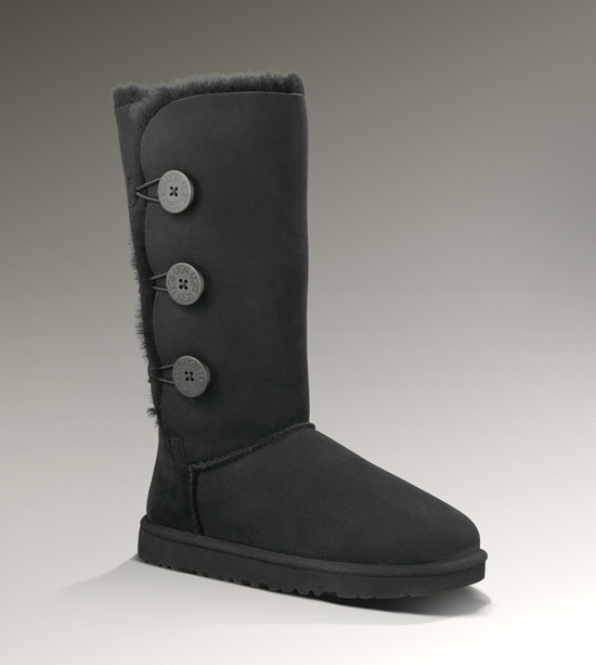 UGG Black Women's Bailey Button Triplet 2016